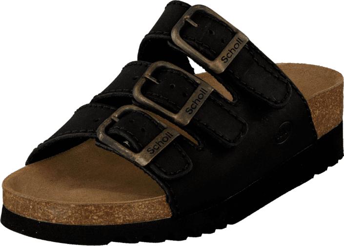 Scholl Rio AD Black, Kengät, Sandaalit ja tohvelit, Sandaalit, Musta, Naiset, 38