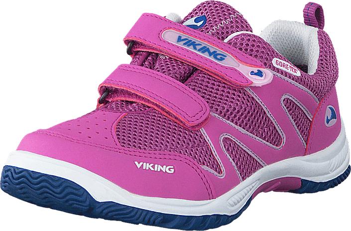 Viking Cascade Dark Pink/Multi, Kengät, Sneakerit ja urheilukengät, Urheilukengät, Sininen, Vaaleanpunainen, Unisex, 20