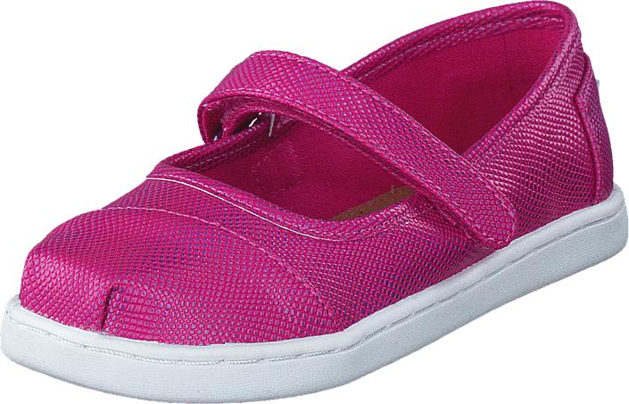 Toms Mary Jane Fuchia Iridescent, Kengät, Matalapohjaiset kengät, Maryjane-kengät, Vaaleanpunainen, Unisex, 21