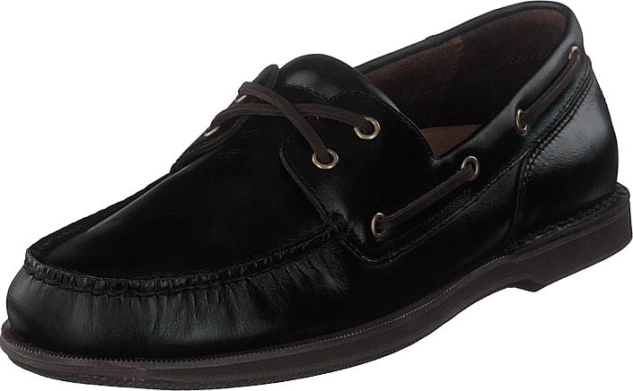 Rockport Perth Dk Brown Pull Up, Kengät, Matalapohjaiset kengät, Purjehduskengät, Musta, Miehet, 44