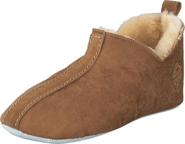 Shepherd Lina Antique Cognac, Kengät, Sandaalit ja tohvelit, Lämminvuoriset tohvelit, Ruskea, Naiset, 41