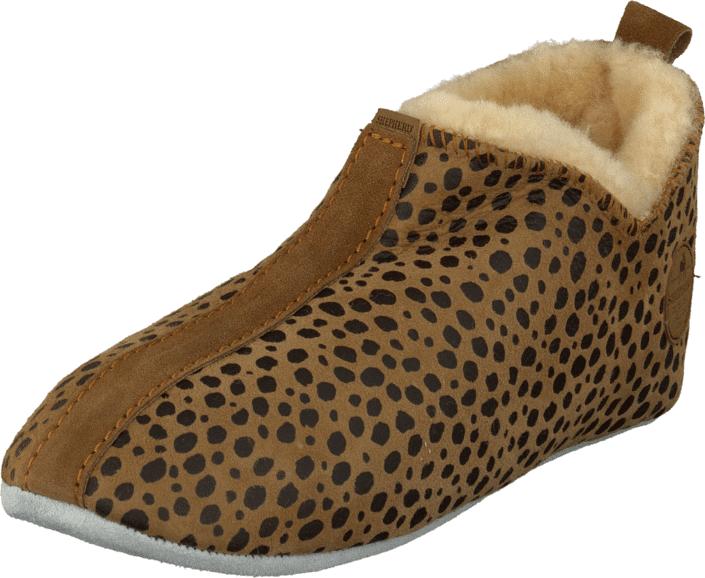 Shepherd Lina Leopard, Kengät, Sandaalit ja tohvelit, Lämminvuoriset tohvelit, Ruskea, Kuvioitu, Naiset, 37