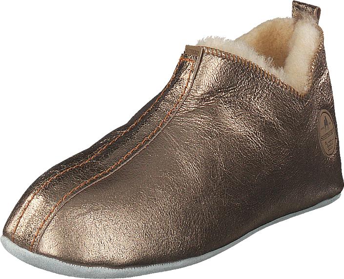 Shepherd Lina Guld, Kengät, Matalapohjaiset kengät, Juhlakengät, Ruskea, Beige, Kulta, Naiset, 37