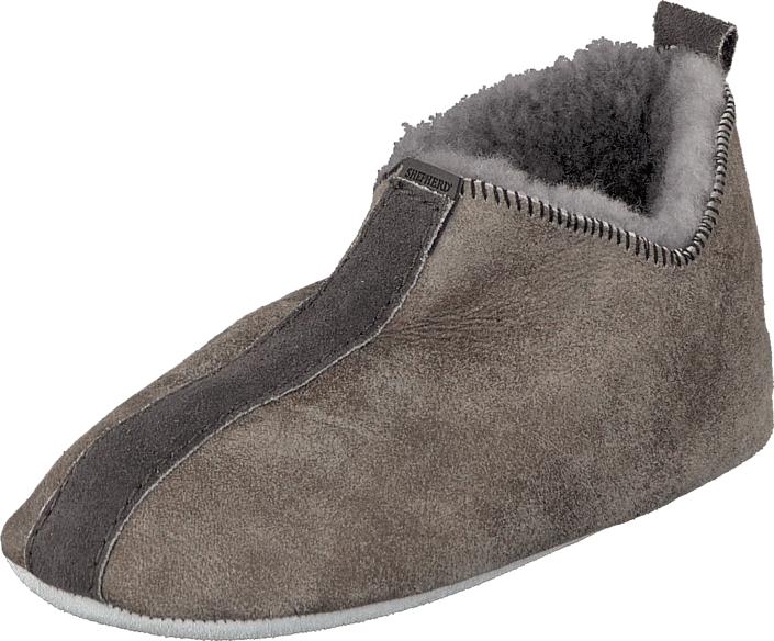 Shepherd Viared Antique Grey, Kengät, Sandaalit ja tohvelit, Lämminvuoriset tohvelit, Ruskea, Harmaa, Unisex, 24