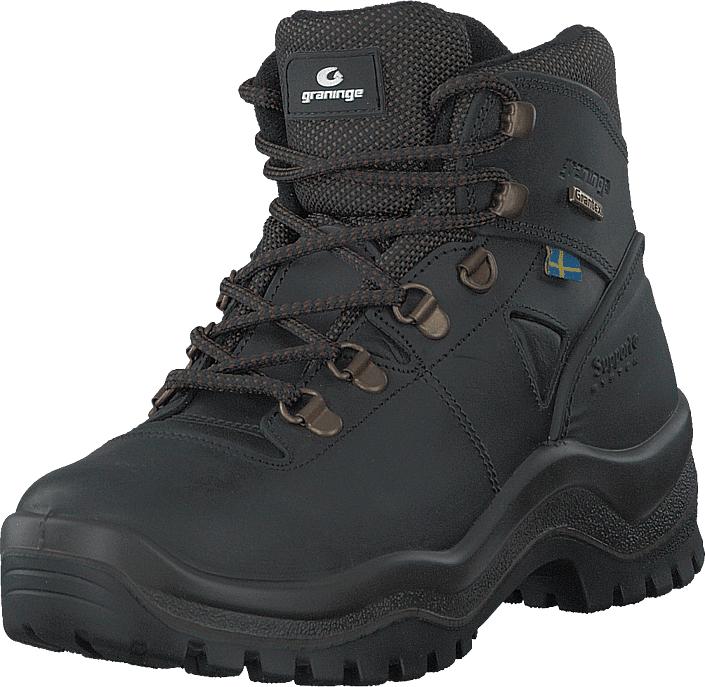 Graninge 56629 Black, Kengät, Bootsit, Vaelluskengät, Harmaa, Musta, Unisex, 38