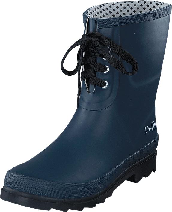 Duffy 90-11004 Navy Blue, Kengät, Bootsit, Korkeavartiset bootsit, Sininen, Naiset, 38