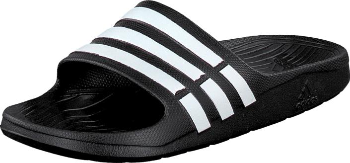 adidas Sport Performance Duramo Slide Black 1/White/Black 1, Kengät, Sandaalit ja tohvelit, Remmisandaalit, Musta, Unisex, 46