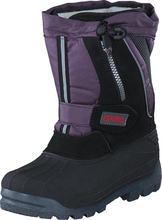 Eskimo Scooter Purple, Kengät, Bootsit, Lämminvuoriset kengät, Violetti, Musta, Unisex, 25