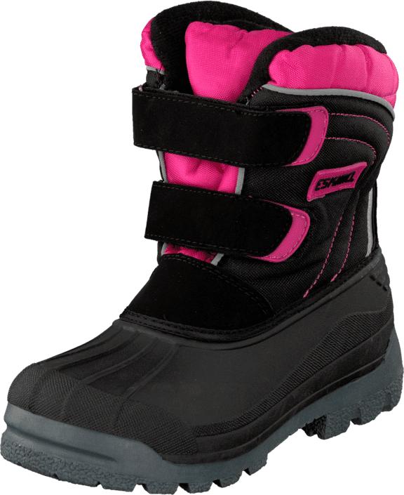 Eskimo Star Black/Fuxia, Kengät, Bootsit, Lämminvuoriset kengät, Musta, Unisex, 25