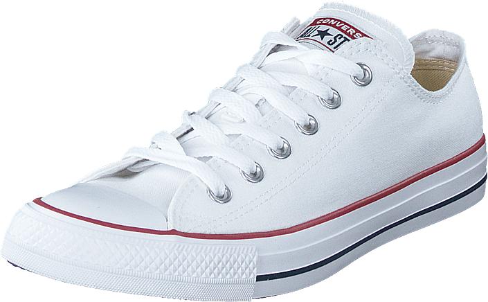 Converse All star Canvas Ox Optical White, Kengät, Sneakerit ja urheilukengät, Varrettomat tennarit, Valkoinen, Unisex, 36