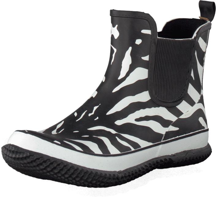 Duffy 92-98024 Black/White, Kengät, Bootsit, Chelsea boots, Musta, Naiset, 36