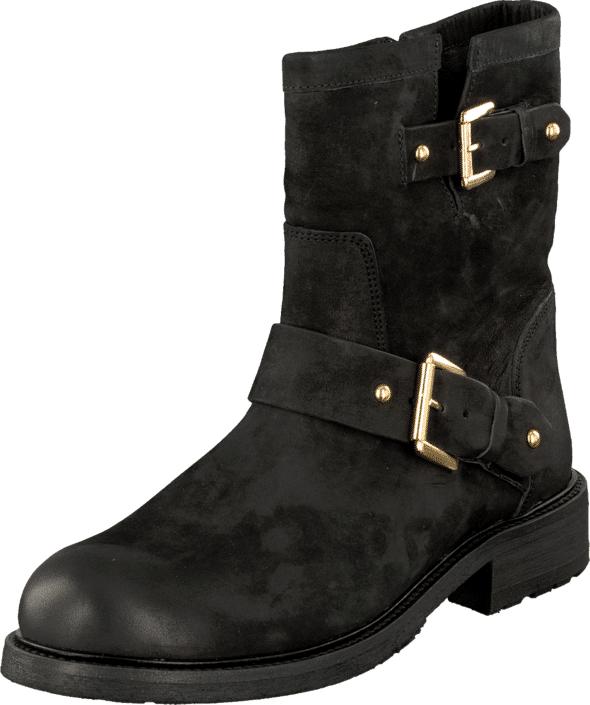 Billi Bi Black Varese/Gold 402 Black/Gold, Kengät, Bootsit, Korkeavartiset bootsit, Musta, Naiset, 36
