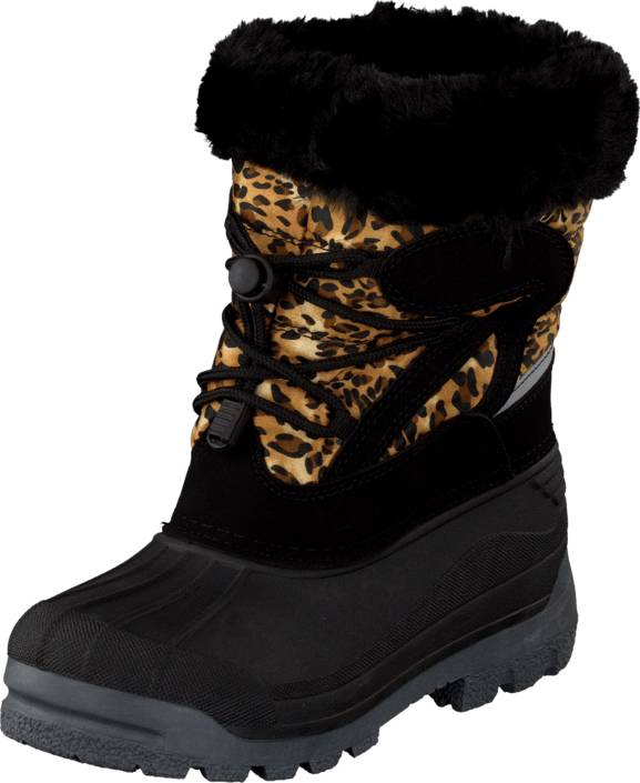 Eskimo Grant Leopard, Kengät, Bootsit, Lämminvuoriset kengät, Musta, Kuvioitu, Unisex, 27