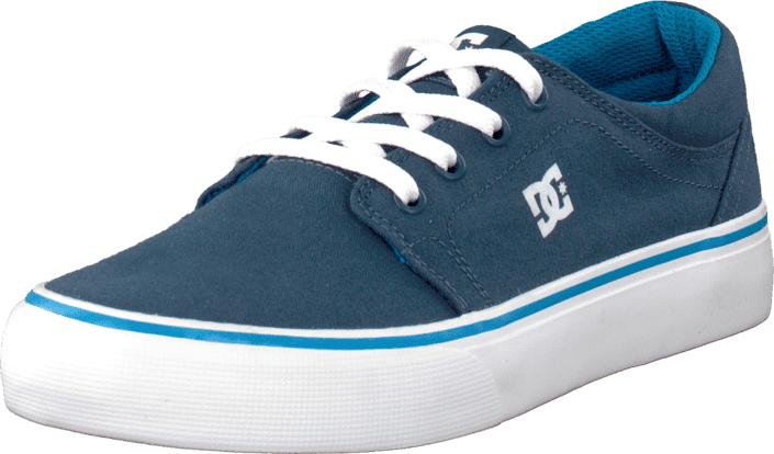 DC Shoes Kids Trase Tx Shoe Navy/Bright Blue, Kengät, Sneakerit ja urheilukengät, Varrettomat tennarit, Turkoosi, Unisex, 29