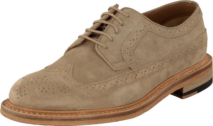 Clarks Edward Style Taupe Suede, Kengät, Matalapohjaiset kengät, Juhlakengät, Ruskea, Miehet, 43