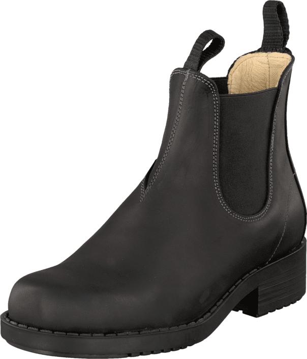 Johnny Bulls Low Elastic Chelsea Black, Kengät, Bootsit, Chelsea boots, Musta, Naiset, 36