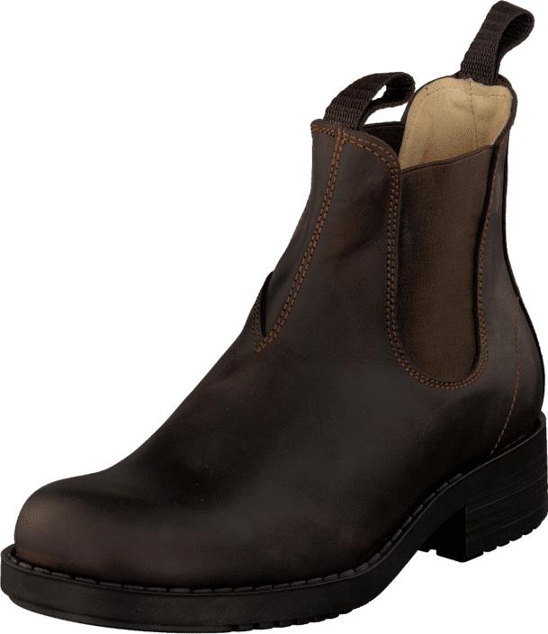 Johnny Bulls Low Elastic Chelsea Brown, Kengät, Bootsit, Chelsea boots, Ruskea, Naiset, 35