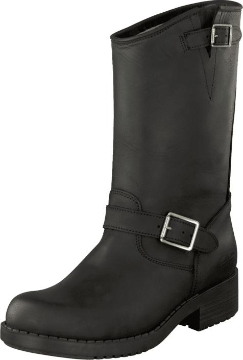 Johnny Bulls Mid Boot Black/Silver, Kengät, Saappaat ja saapikkaat, Pitkävartiset kumisaappaat, Musta, Naiset, 38
