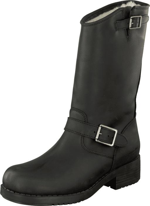 Johnny Bulls Mid Boot Warm lining Black/Silver, Kengät, Saappaat ja saapikkaat, Pitkävartiset kumisaappaat, Musta, Naiset, 35