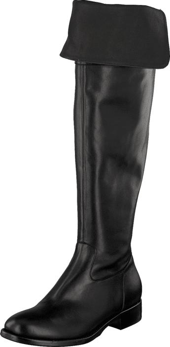Billi Bi 7622 Black Calf, Kengät, Saappaat ja saapikkaat, Korkeakorkoiset saappaat, Musta, Naiset, 36