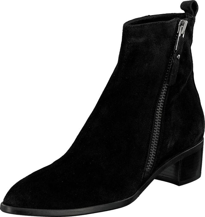 Billi Bi 7653 Black Babysilk Suede, Kengät, Bootsit, Chelsea boots, Musta, Naiset, 36