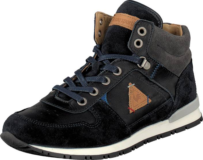 Le Coq Sportif Gaspar Shoot JR Dress Blue, Kengät, Sneakerit ja urheilukengät, Korkeavartiset tennarit, Musta, Unisex, 28