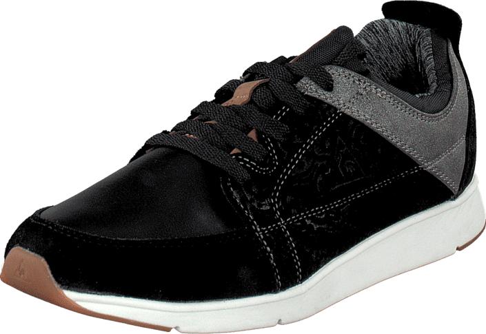 Le Coq Sportif Flore Low Black, Kengät, Sneakerit ja urheilukengät, Sneakerit, Musta, Naiset, 36