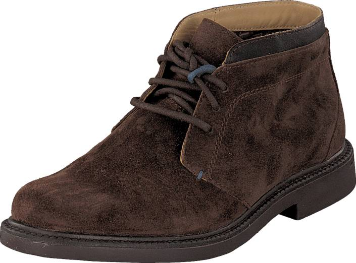Sebago Turner Chukka DK Brown SDE/LEA, Kengät, Bootsit, Chukka boots, Ruskea, Miehet, 41