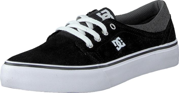 DC Shoes Kids Trase Sd Shoe Black/Grey/White, Kengät, Sneakerit ja urheilukengät, Varrettomat tennarit, Musta, Unisex, 29