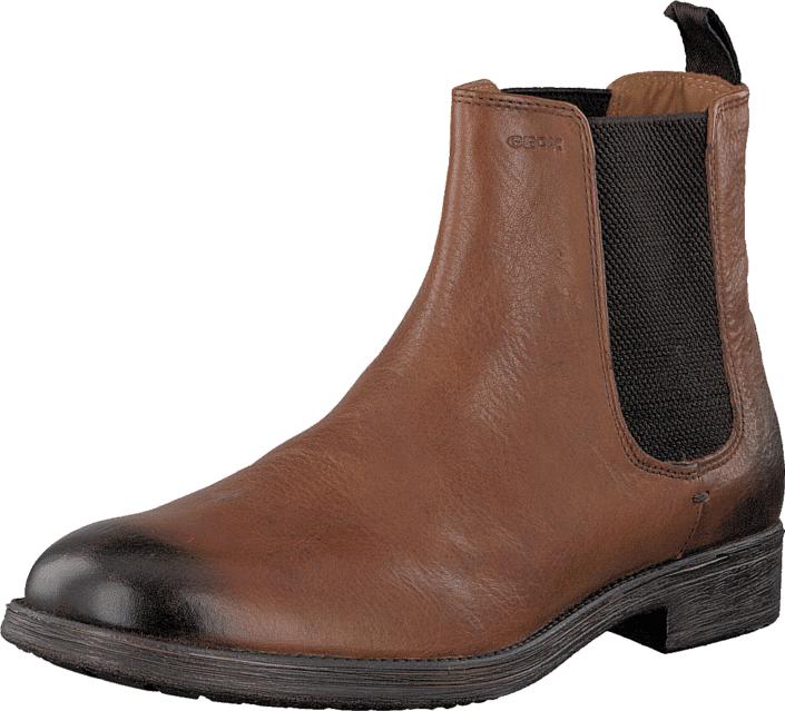 Geox U Jaylon E - Tumb.Lea Cognac, Kengät, Bootsit, Chelsea boots, Ruskea, Miehet, 42