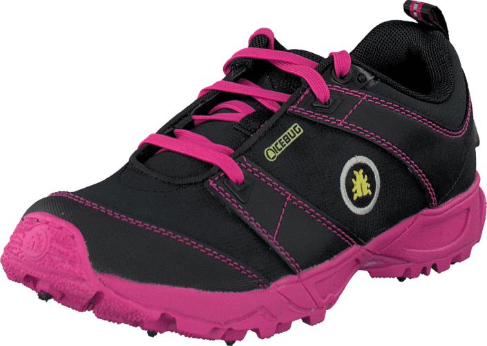Icebug PYTHO3-L BUGrip® Black/Peony, Kengät, Sneakerit ja urheilukengät, Sneakerit, Musta, Naiset, 40