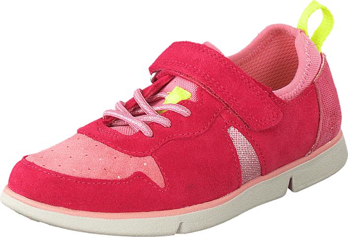Clarks Tri Bessie Inf Rose, Kengät, Sneakerit ja urheilukengät, Sneakerit, Vaaleanpunainen, Unisex, 31