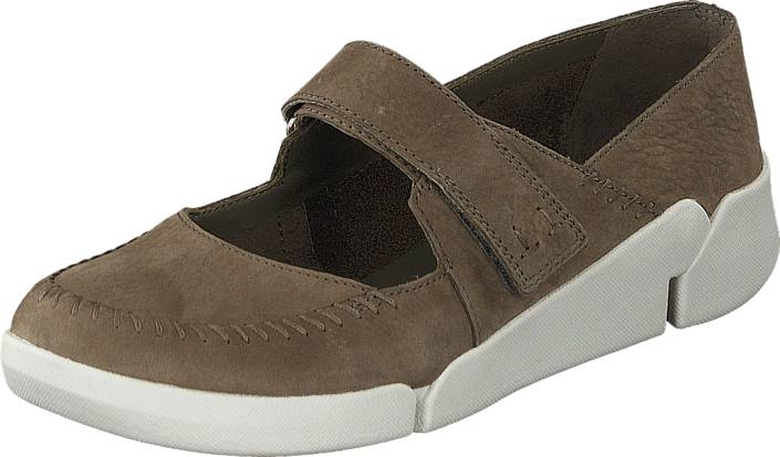 Clarks Tri Amanda Sage, Kengät, Matalapohjaiset kengät, Maryjane-kengät, Ruskea, Naiset, 38