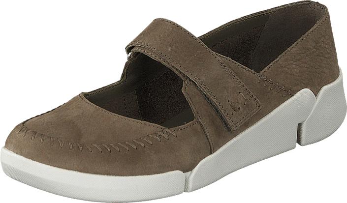 Clarks Tri Amanda Sage, Kengät, Matalapohjaiset kengät, Maryjane-kengät, Ruskea, Naiset, 39