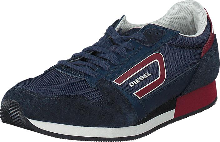 Diesel Owens Indigo/ Biking Red, Kengät, Sneakerit ja urheilukengät, Sneakerit, Sininen, Miehet, 40