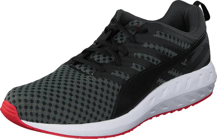 Puma Flare Black-White-High Risk Red, Kengät, Sneakerit ja urheilukengät, Sneakerit, Musta, Miehet, 41