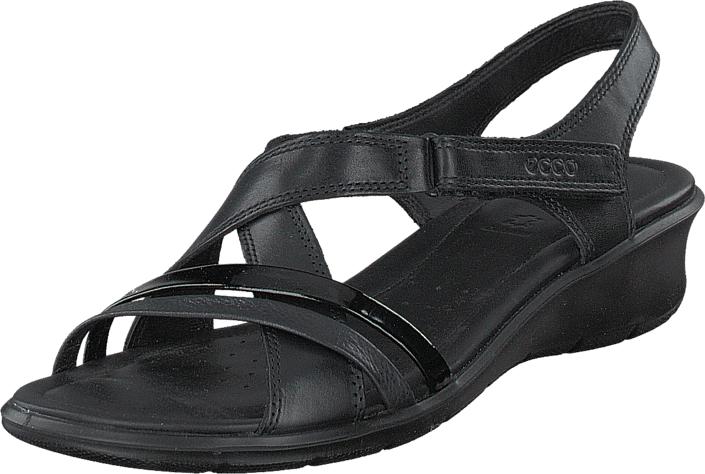 Ecco Felicia Sandal Black/ Black, Kengät, Sandaalit ja tohvelit, Remmisandaalit, Musta, Naiset, 39