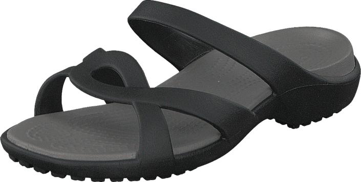Crocs Meleen Twist Sandal Black/Smoke, Kengät, Sandaalit ja tohvelit, Remmisandaalit, Musta, Naiset, 36
