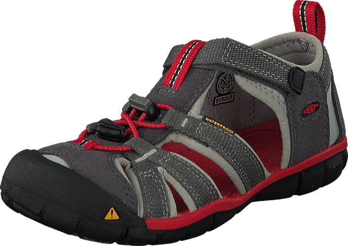 Keen Seacamp Ii Cnx-Kids Magnet/Racing Red, Kengät, Sandaalit ja tohvelit, Sporttisandaalit, Musta, Unisex, 30