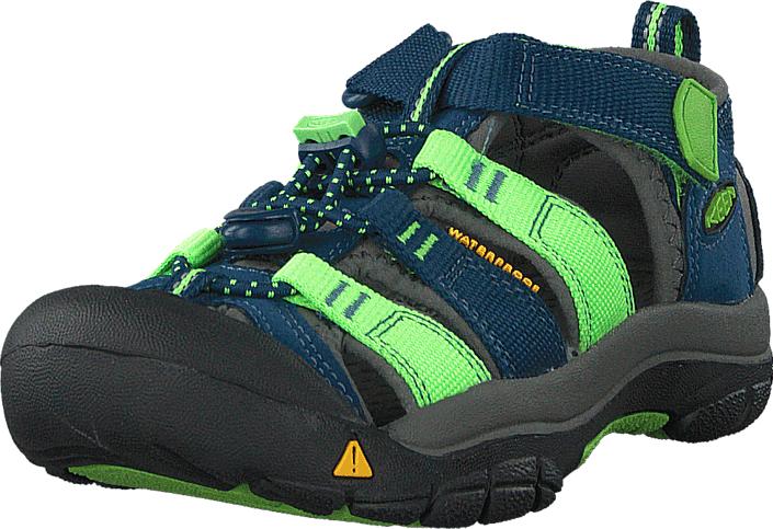 Keen Newport H2-Kids Poseidon/Jasmine Green Multi, Kengät, Sneakerit ja urheilukengät, Tennarit , Harmaa, Sininen, Unisex, 24