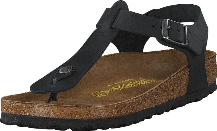 Birkenstock Kairo Regular Oiled Leather Black, Kengät, Sandaalit ja tohvelit, Remmisandaalit, Musta, Naiset, 36