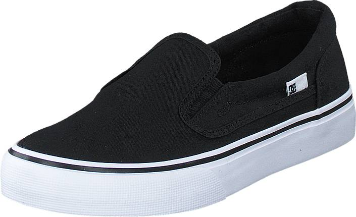 DC Shoes Dc Kids Trase Slip-On Shoe Black/White, Kengät, Matalapohjaiset kengät, Slip on, Musta, Unisex, 27