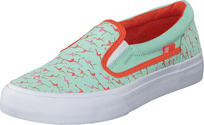 DC Shoes Dc Kids Trase Slip-On Shoe Misty Blue, Kengät, Matalapohjaiset kengät, Kangaskengät, Sininen, Harmaa, Unisex, 29
