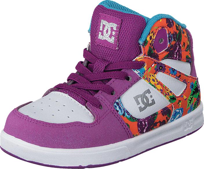 DC Shoes Dc Tod Rebound Se Ul Shoe Purple Rain, Kengät, Sneakerit ja urheilukengät, Korkeavartiset tennarit, Sininen, Violetti, Unisex, 20