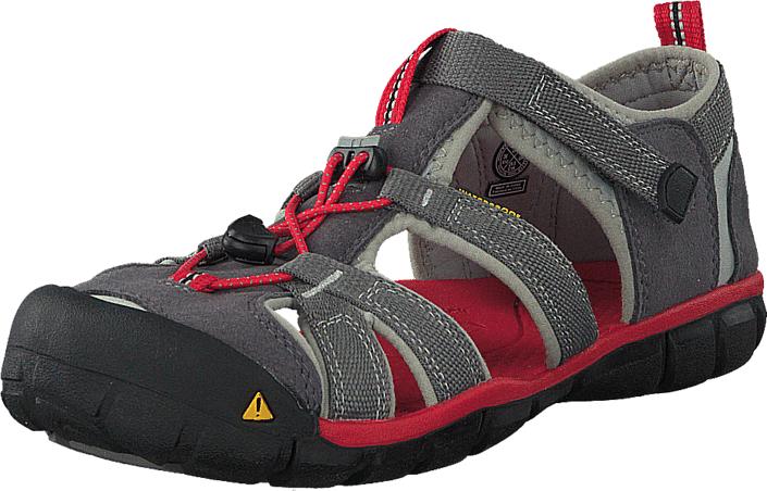 Keen Seacamp II Cnx-Jr Magnet/Racing Red, Kengät, Sandaalit ja tohvelit, Sporttisandaalit, Harmaa, Unisex, 35
