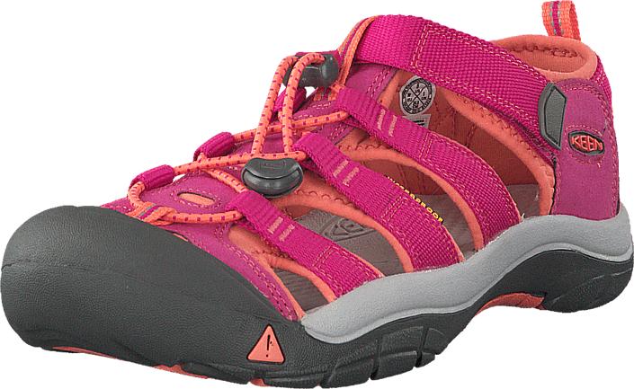 Keen Newport H2-Jr Very Berry/Fusion Coral, Kengät, Sandaalit ja tohvelit, Sporttisandaalit, Harmaa, Vaaleanpunainen, Unisex, 36