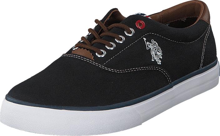 U.S. Polo Assn Dalan 6 Canvas Black, Kengät, Sneakerit ja urheilukengät, Varrettomat tennarit, Musta, Miehet, 41