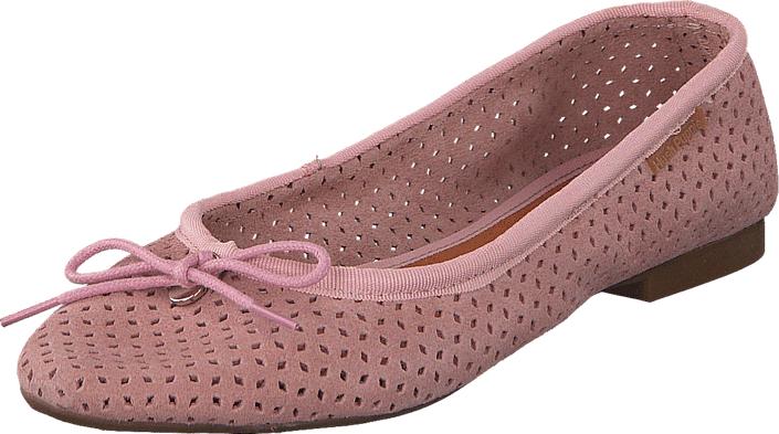 Hush Puppies Lilly Ballerina Perf Nude, Kengät, Matalapohjaiset kengät, Ballerinat, Punainen, Vaaleanpunainen, Naiset, 36
