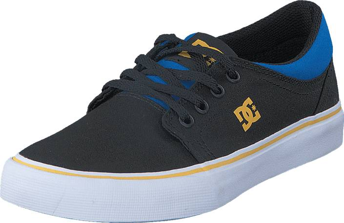 DC Shoes Trase Tx Black/Blue/Grey, Kengät, Sneakerit ja urheilukengät, Varrettomat tennarit, Musta, Unisex, 29