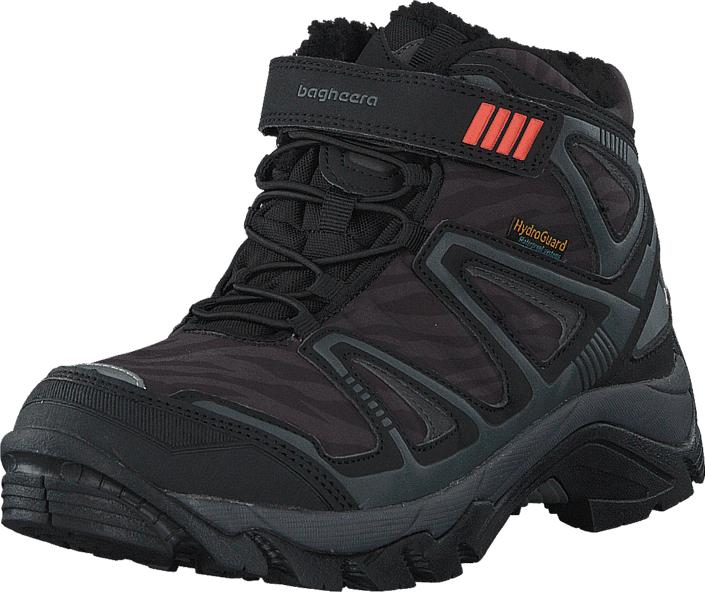 Bagheera Atlas  Waterproof Black/Dark Grey, Kengät, Bootsit, Vaelluskengät, Musta, Unisex, 32